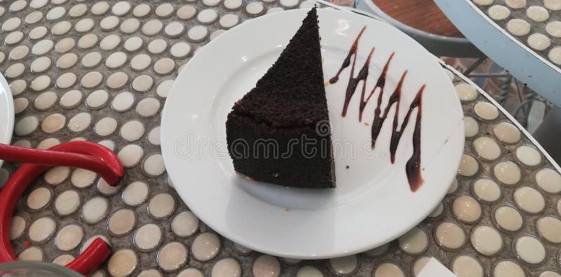 Preto do alimento do bolo de chocolate imagens de stock