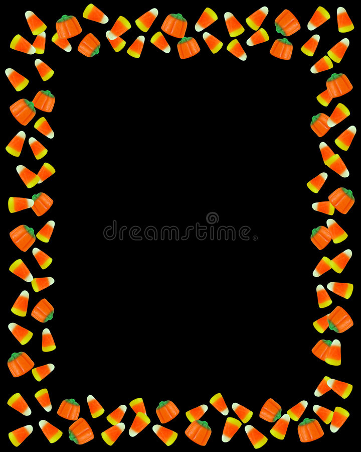 Preto do quadro de milho de doces de Halloween ilustração stock