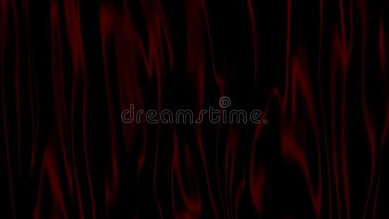 preto do sumário da ilustração 3D com fundo vermelho ilustração royalty free