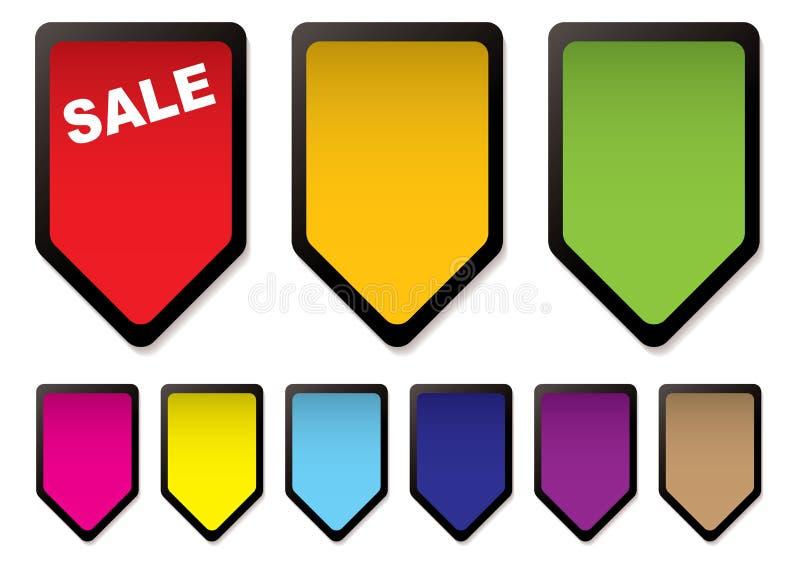Preto dos ícones do preço ilustração stock