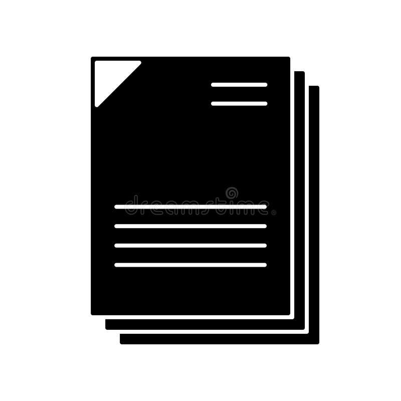 Preto dos documentos ilustração stock