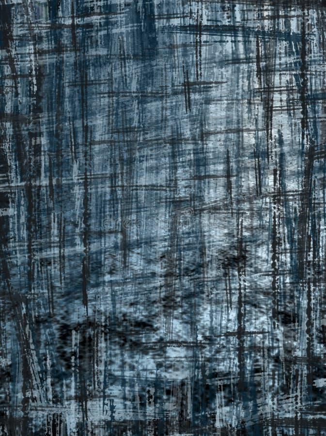 Preto e azul ilustração do vetor