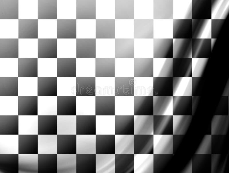 Preto e branco ilustração stock