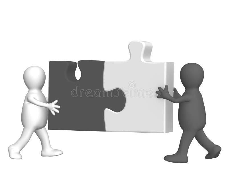 Preto e branco ilustração do vetor