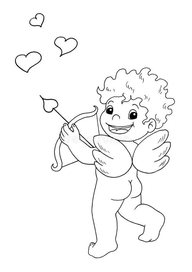 Download Preto e branco - Eros ilustração stock. Ilustração de asas - 12805735