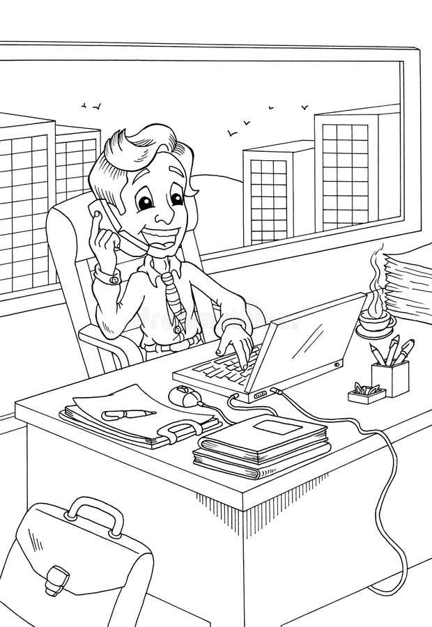 Download Preto e branco - gerente ilustração stock. Ilustração de trabalho - 12805940