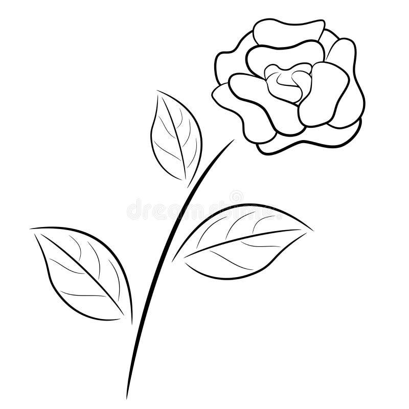 Preto e branco levantou-se ilustração do vetor