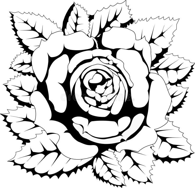 Preto e branco levantou-se ilustração royalty free