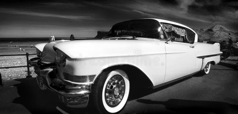 Preto e branco retro americano imagens de stock