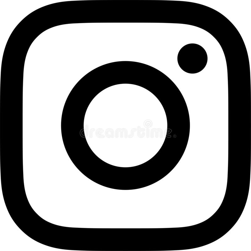 Preto e branco velho do logotipo de Instagram ilustração do vetor