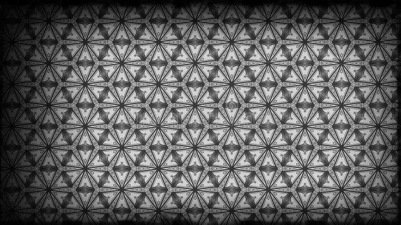 Preto e fundo elegante bonito do projeto da arte gráfica da ilustração do papel de parede de Grey Vintage Decorative Floral Patte ilustração do vetor