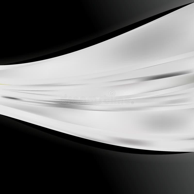 Preto e fundo elegante do projeto da arte gráfica da ilustração de Grey Business Brochure Template Beautiful ilustração do vetor