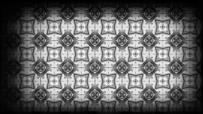 Preto e gráfico de Gray Vintage Floral Pattern Background ilustração royalty free