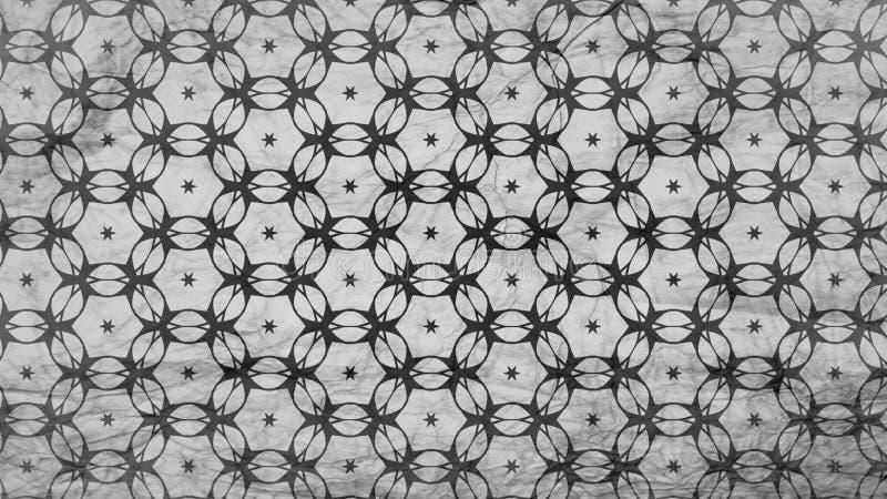 Preto e Gray Decorative Pattern Wallpaper ilustração do vetor