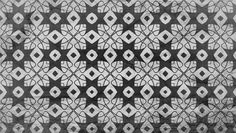 Preto e Gray Geometric Ornament Background Pattern ilustração royalty free