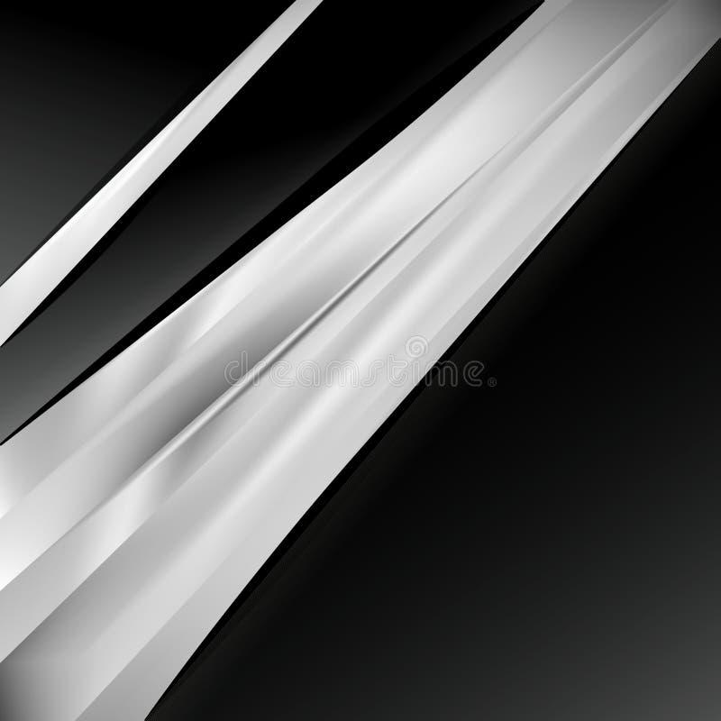 Preto e Grey Brochure Design Template ilustração do vetor