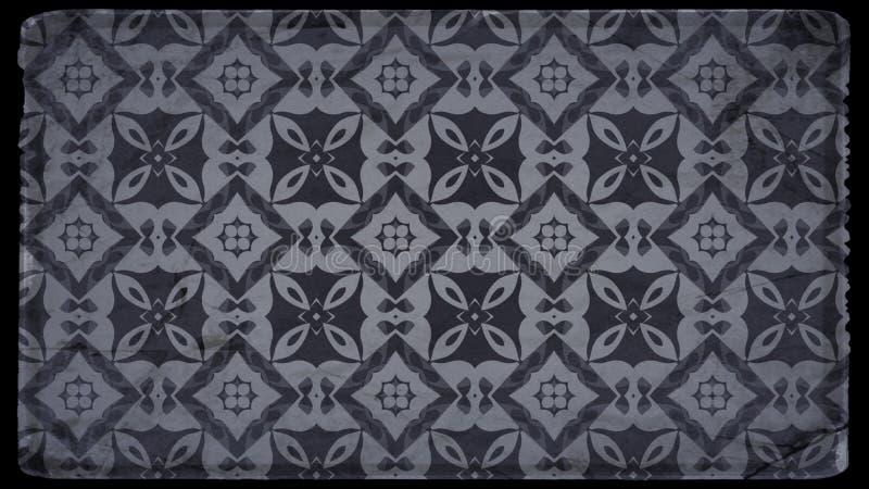 Preto e Grey Ornamental Vintage Background Pattern ilustração do vetor