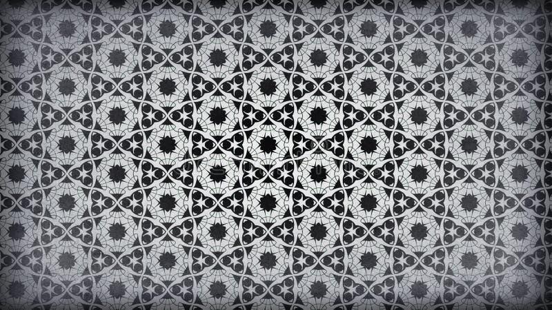 Preto e Grey Vintage Floral Pattern Wallpaper ilustração do vetor