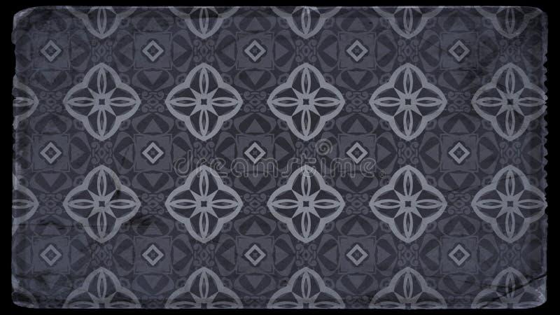 Preto e Grey Vintage Wallpaper Background ilustração stock