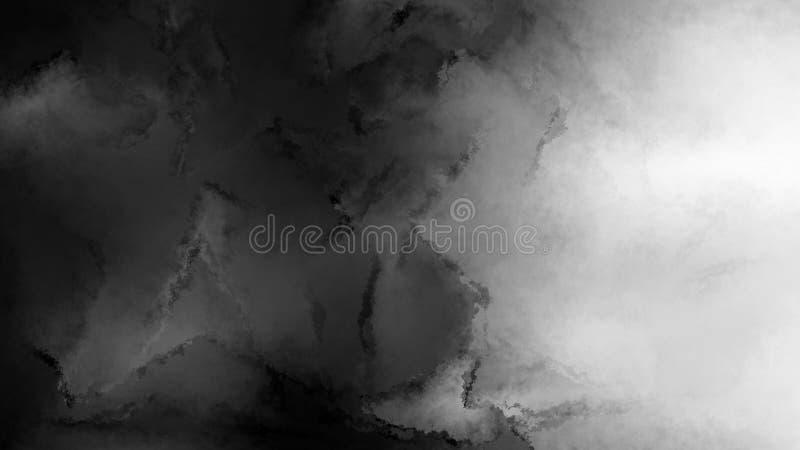 Preto e Grey Watercolour Grunge Texture Background ilustração do vetor