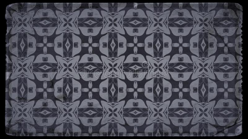 Preto e imagem de Gray Floral Vintage Pattern Background ilustração royalty free