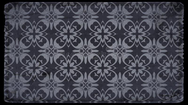 Preto e molde do fundo de Gray Vintage Floral Pattern Texture ilustração royalty free