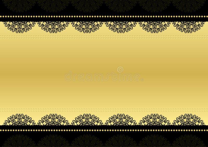 Preto e ouro ilustração royalty free