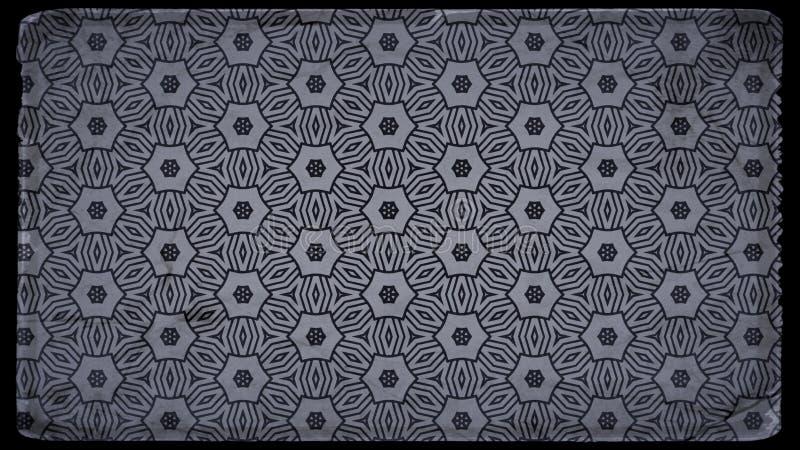 Preto e teste padrão de Grey Vintage Decorative Ornament Background ilustração stock