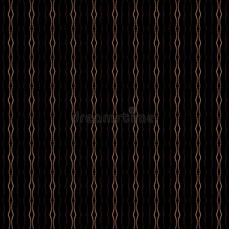 Preto e teste padrão do ouro fotografia de stock