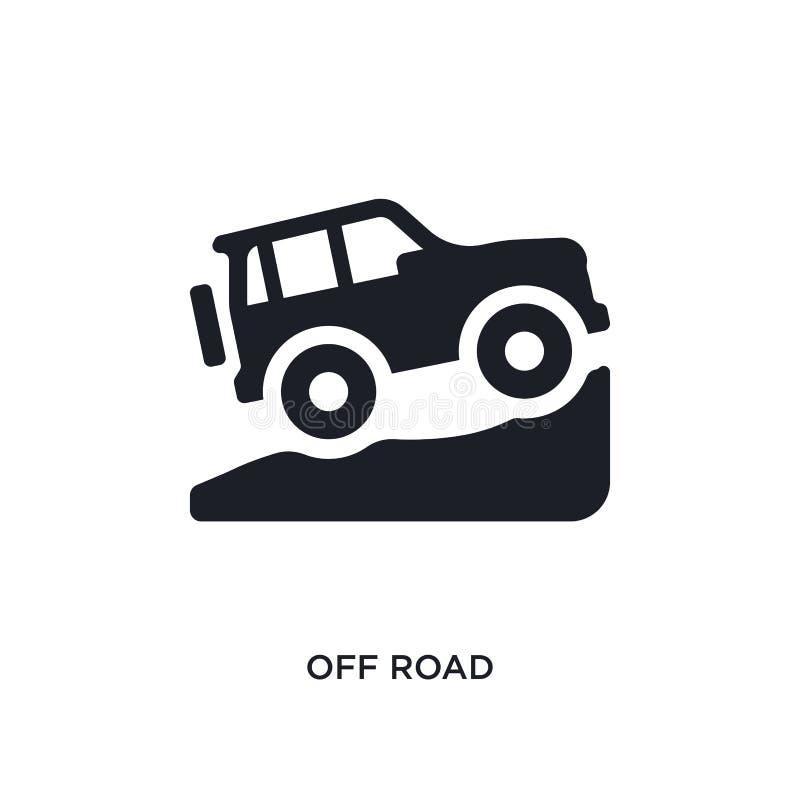 preto fora do ícone isolado estrada do vetor ilustração simples do elemento dos ícones do vetor do conceito do transporte fora do ilustração do vetor