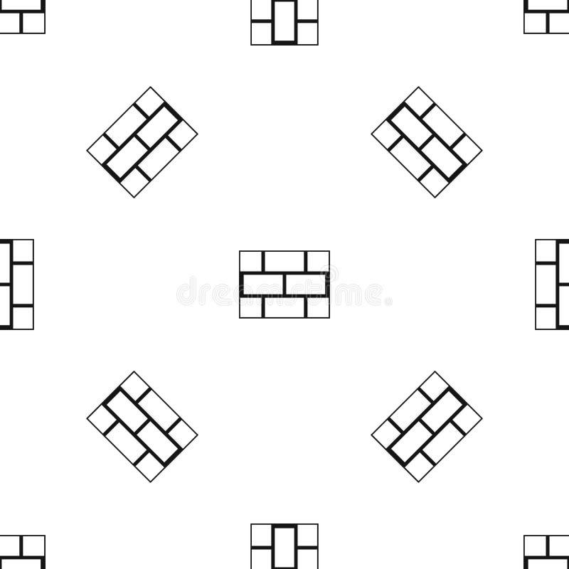 Preto sem emenda do teste padrão da parede do bloco de cimento ilustração do vetor