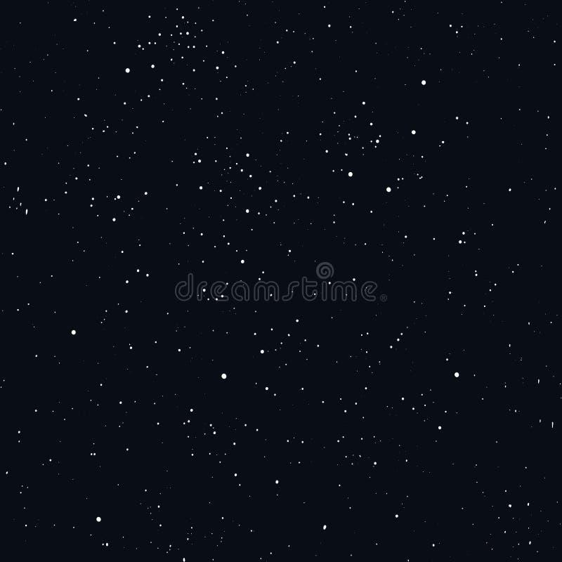 Preto sem emenda estrelado do teste padrão do céu noturno ilustração stock