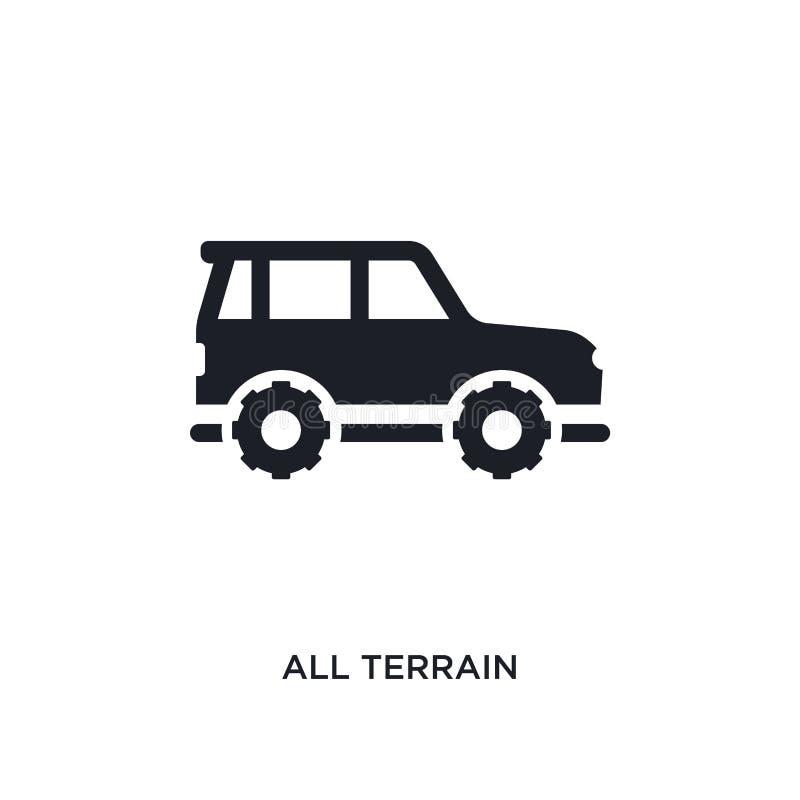 preto todo o ícone isolado terreno do vetor ilustração simples do elemento dos ícones do vetor do conceito do transporte-aytan To ilustração do vetor