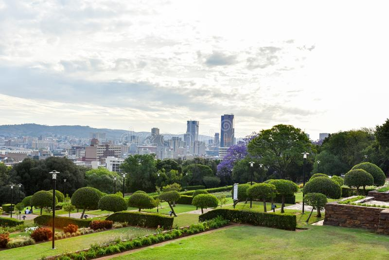 Pretoria city from Union Buildings ,Gauteng, Zuid-Afrika royalty-vrije stock afbeelding