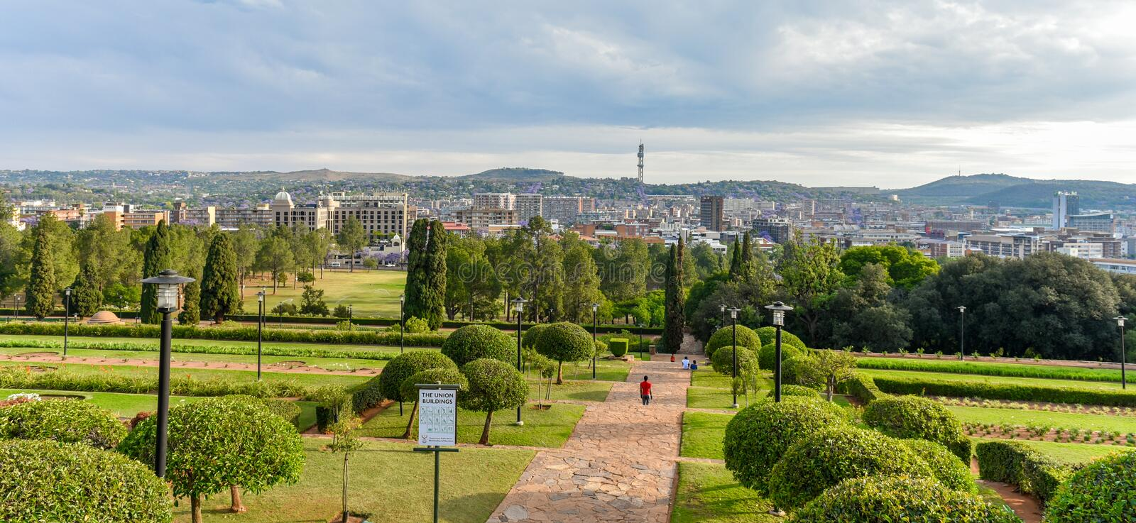 Pretoria city from Union Buildings ,Gauteng, Zuid-Afrika royalty-vrije stock foto