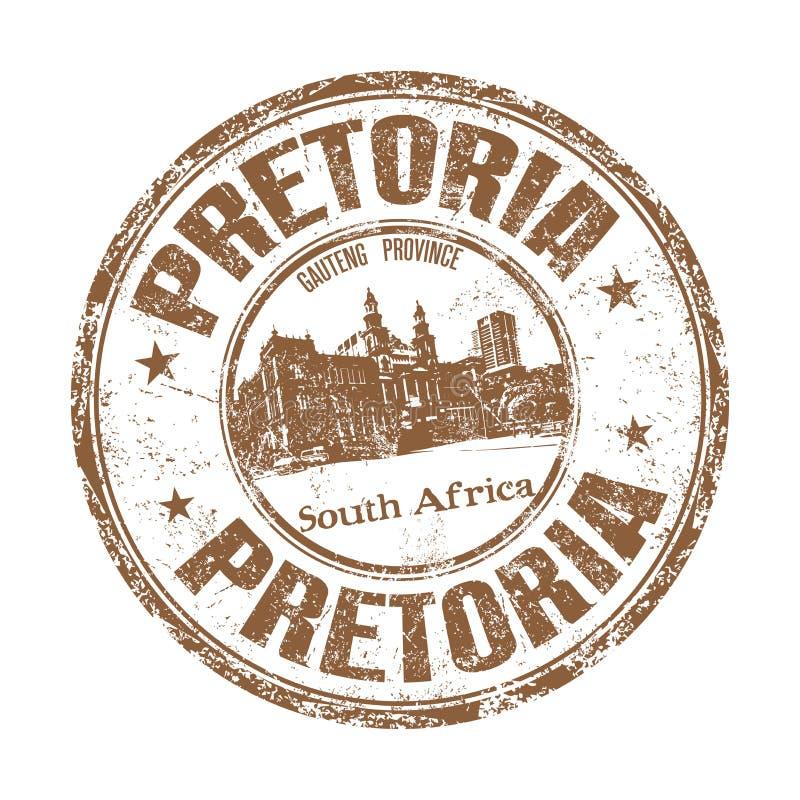 Pretoria grunge rubber stamp royalty free stock photo