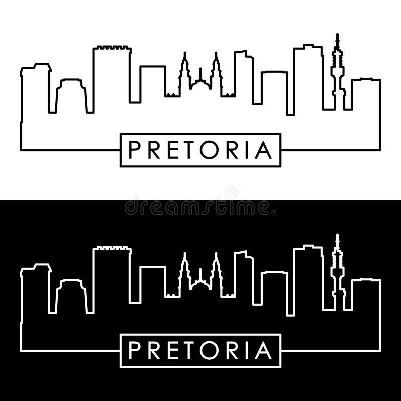 Pretoria linia horyzontu liniowy styl ilustracji