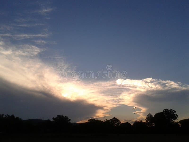 Pretoria solnedgång arkivfoton