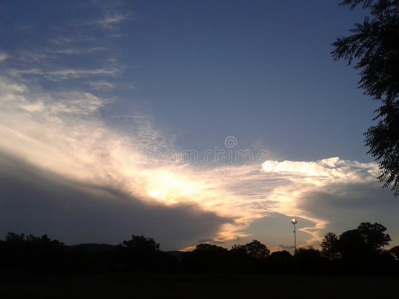Pretoria solnedgång fotografering för bildbyråer