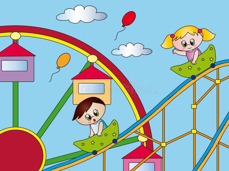 Pretpark vector illustratie
