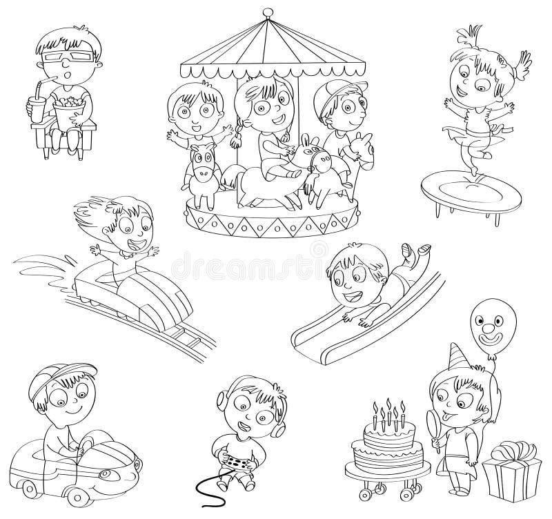 Pretpark stock illustratie