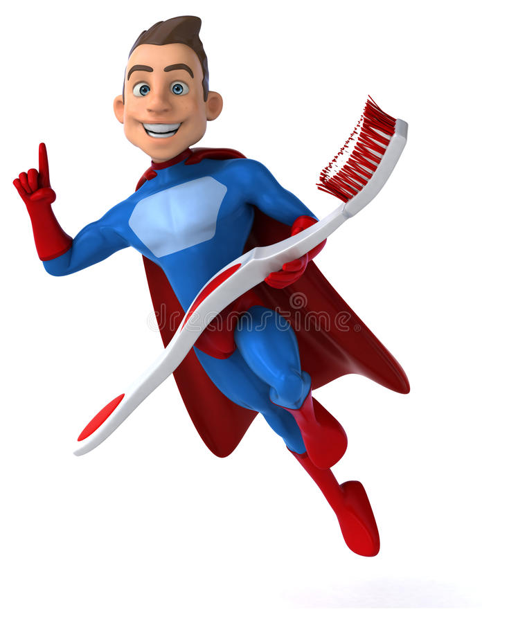 Pretsuperhero stock illustratie