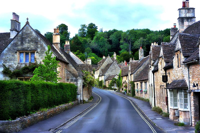 The prettiest village in the Cotwalds, UK - Castle Combe royalty free stock photo