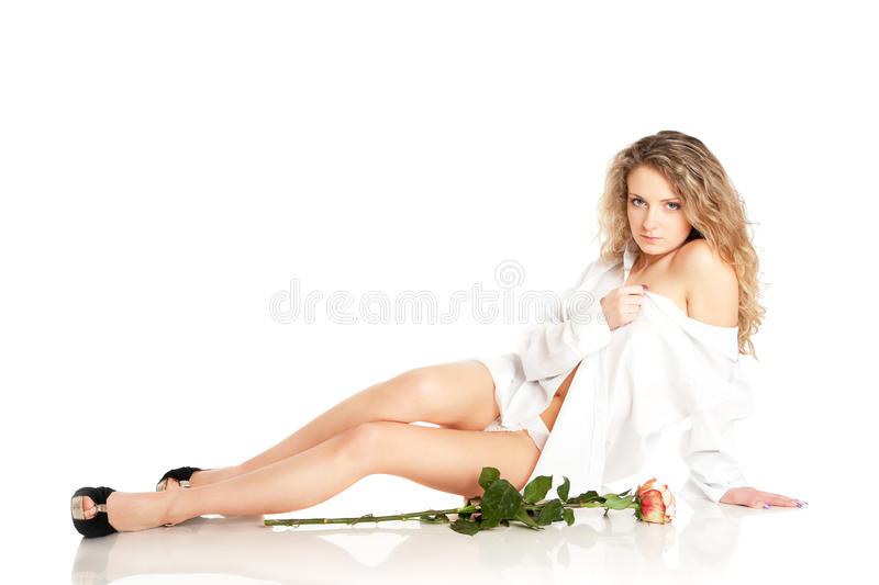 Download Pretty stock photo. Image of rose, close, person, beautiful - 12810532