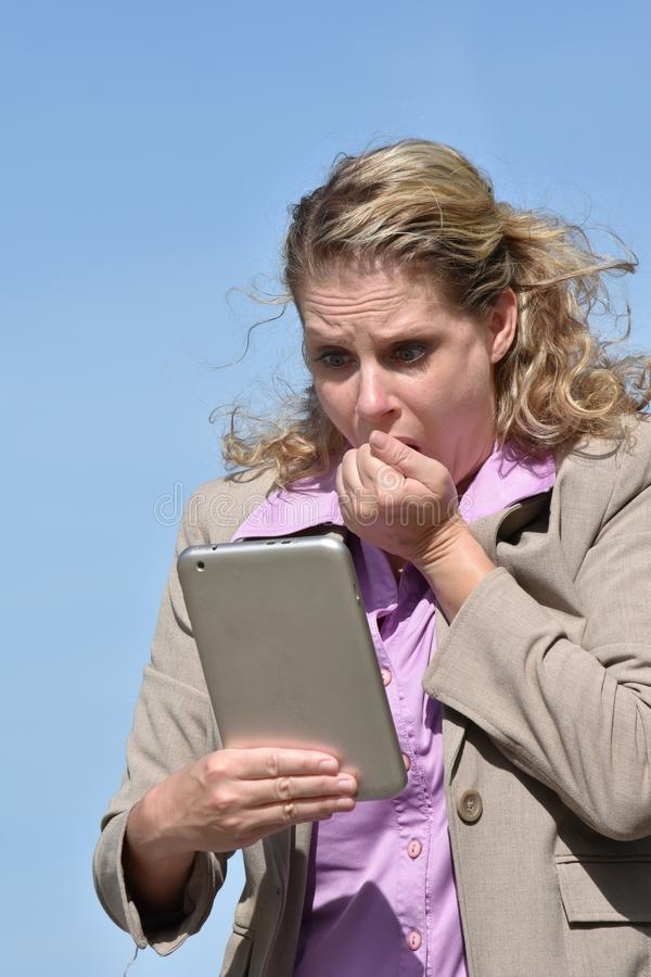 A Stressful Business Woman stock photo