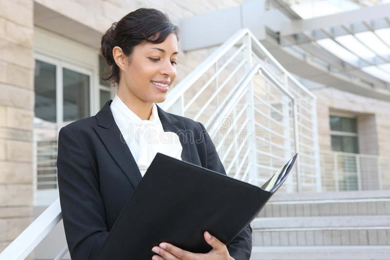 Pretty African American Business Woman stock photo