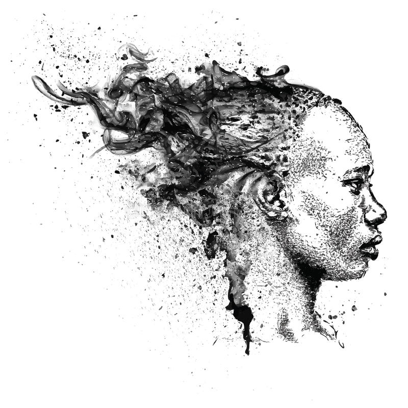 Free Pretty African American Girl. Beautiful Black Woman. Profile View. Hand Draw Vector Illustration Stock Image - 83057291