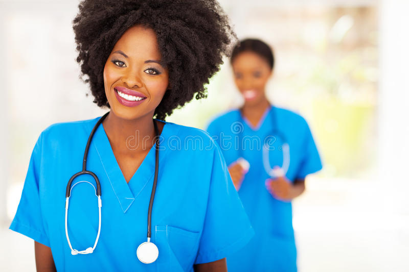 African medical nurse stock images
