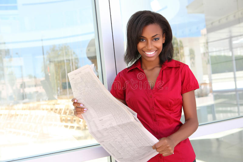 Pretty African Business Woman royalty free stock images