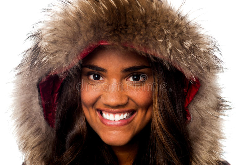 Download Pretty African Girl In Fur Hood Royalty Free Stock Image - Image: 31655756